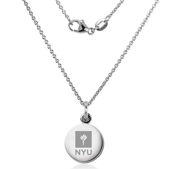 New York University Necklace with Charm in Sterling Silver - Image 2
