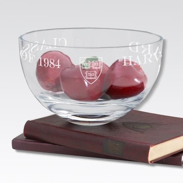 "Harvard 10"" Glass Celebration Bowl - Image 2"