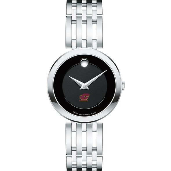 Central Michigan Women's Movado Esparanza Stainless Steel Museum with Bracelet - Image 2