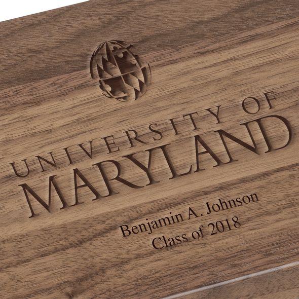 University of Maryland Solid Walnut Desk Box - Image 3