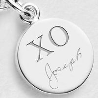 Signature Engraving XO Sterling Individual Charm