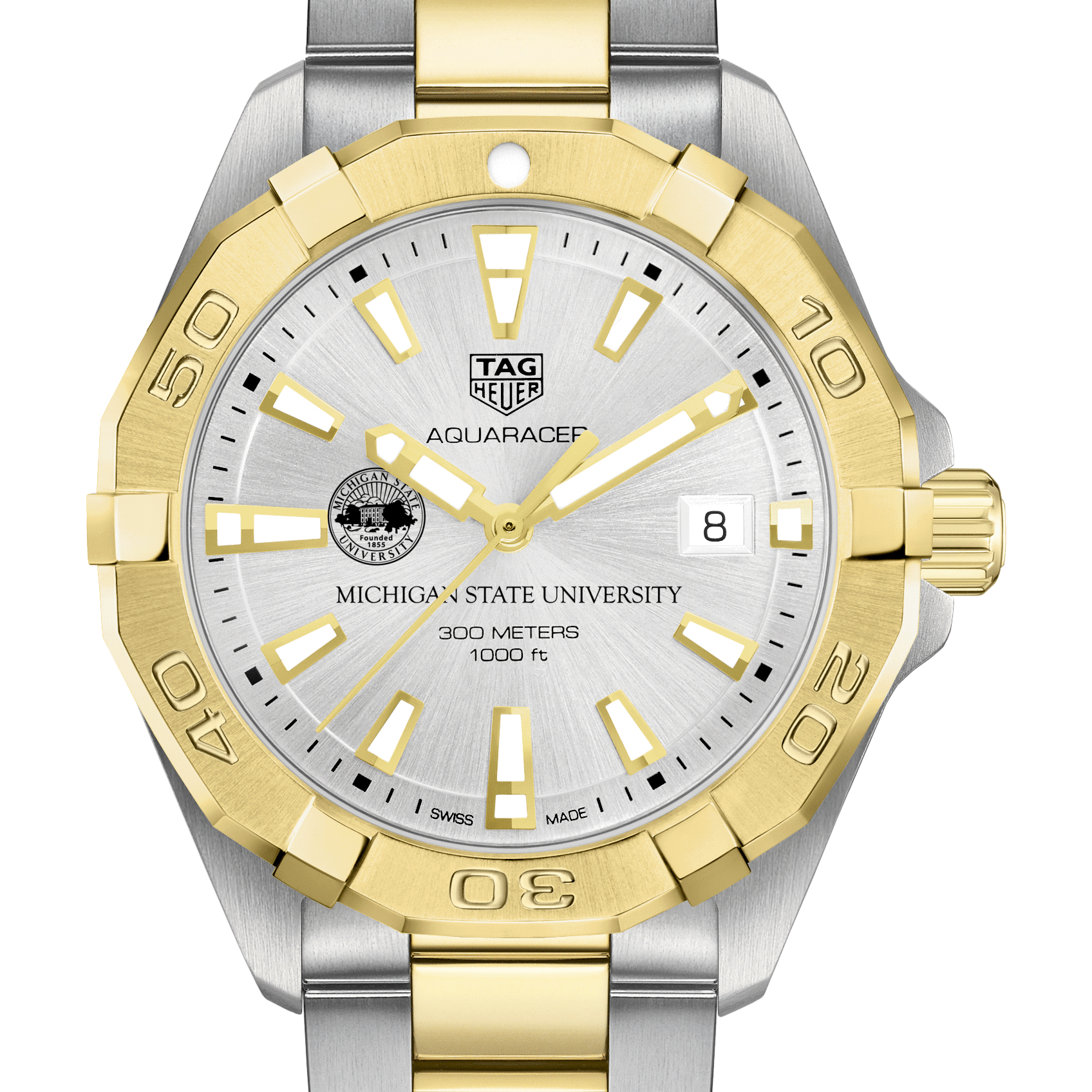 Michigan State Men's TAG Heuer Two-Tone Aquaracer