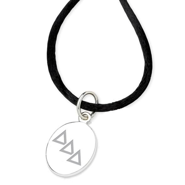 Delta Delta Delta Satin Necklace with Sterling Silver Charm - Image 2