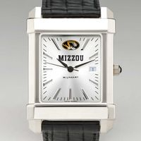 University of Missouri Men's Collegiate Watch with Leather Strap