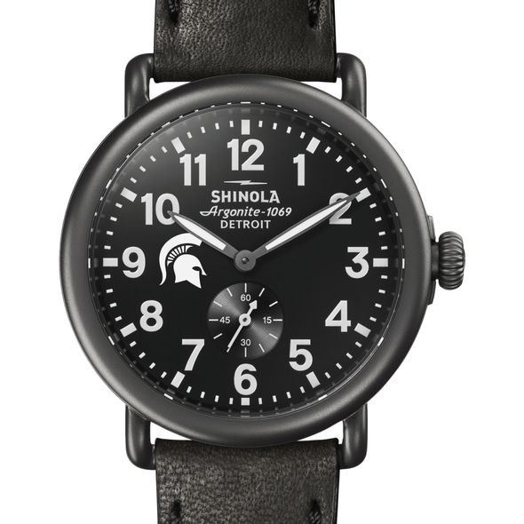 Michigan State Shinola Watch, The Runwell 41mm Black Dial