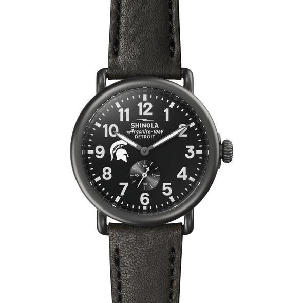 Michigan State Shinola Watch, The Runwell 41mm Black Dial - Image 2