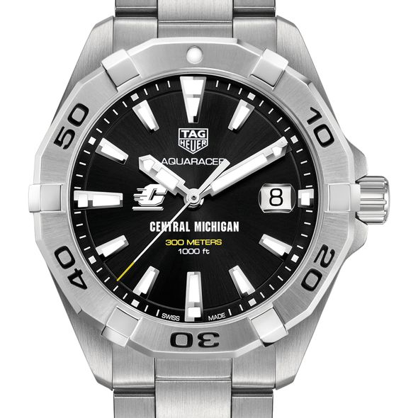 Central Michigan Men's TAG Heuer Steel Aquaracer with Black Dial