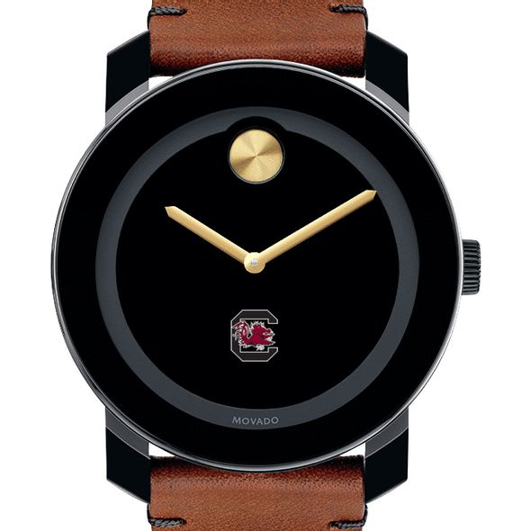University of South Carolina Men's Movado BOLD with Brown Leather Strap