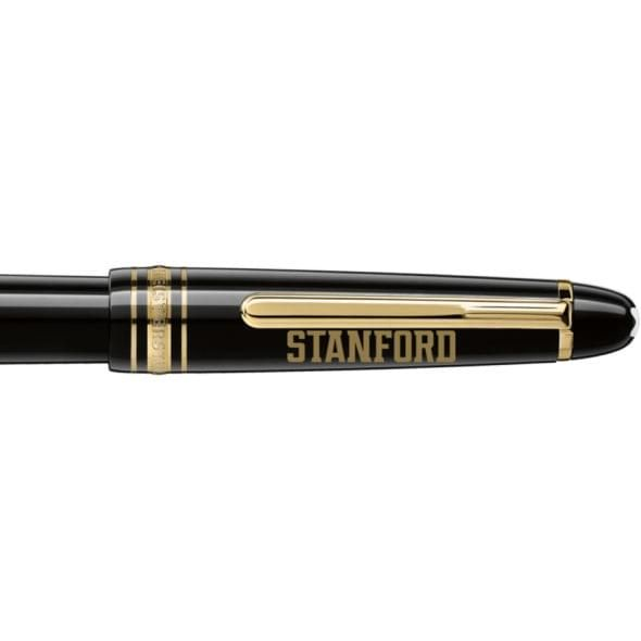 Stanford University Montblanc Meisterstück Classique Fountain Pen in Gold - Image 2