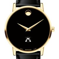 Virginia Military Institute Men's Movado Gold Museum Classic Leather