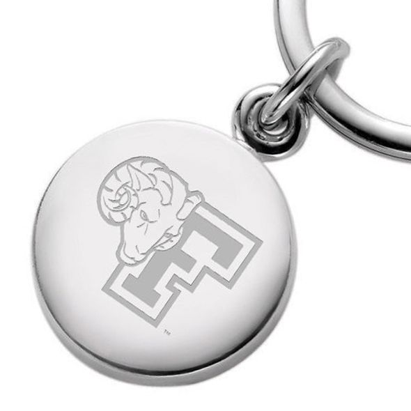 Fordham Sterling Silver Insignia Key Ring - Image 2