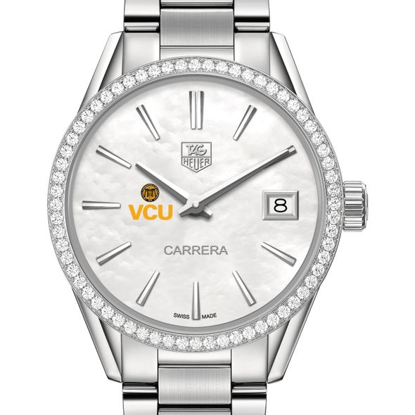 Virginia Commonwealth University Women's TAG Heuer Steel Carrera with MOP Dial & Diamond Bezel