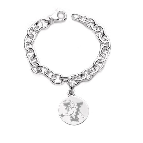UVM Sterling Silver Charm Bracelet & Charm