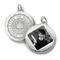 Notre Dame Monica Rich Kosann Round Charm in Silver