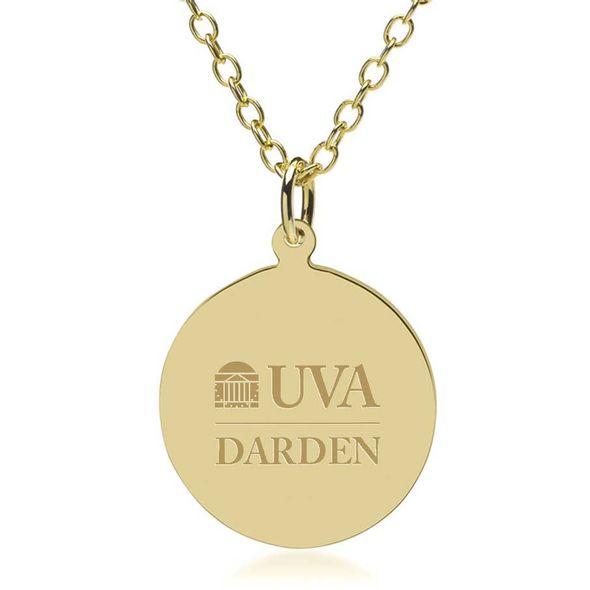 UVA Darden 14K Gold Pendant & Chain