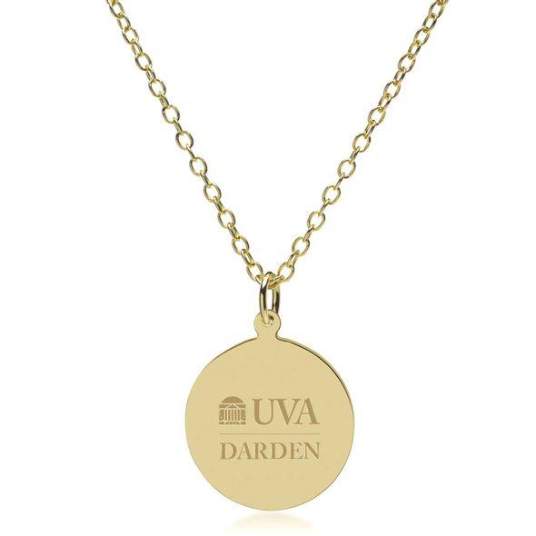 UVA Darden 14K Gold Pendant & Chain - Image 2