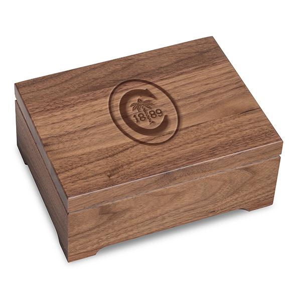 Clemson Solid Walnut Desk Box