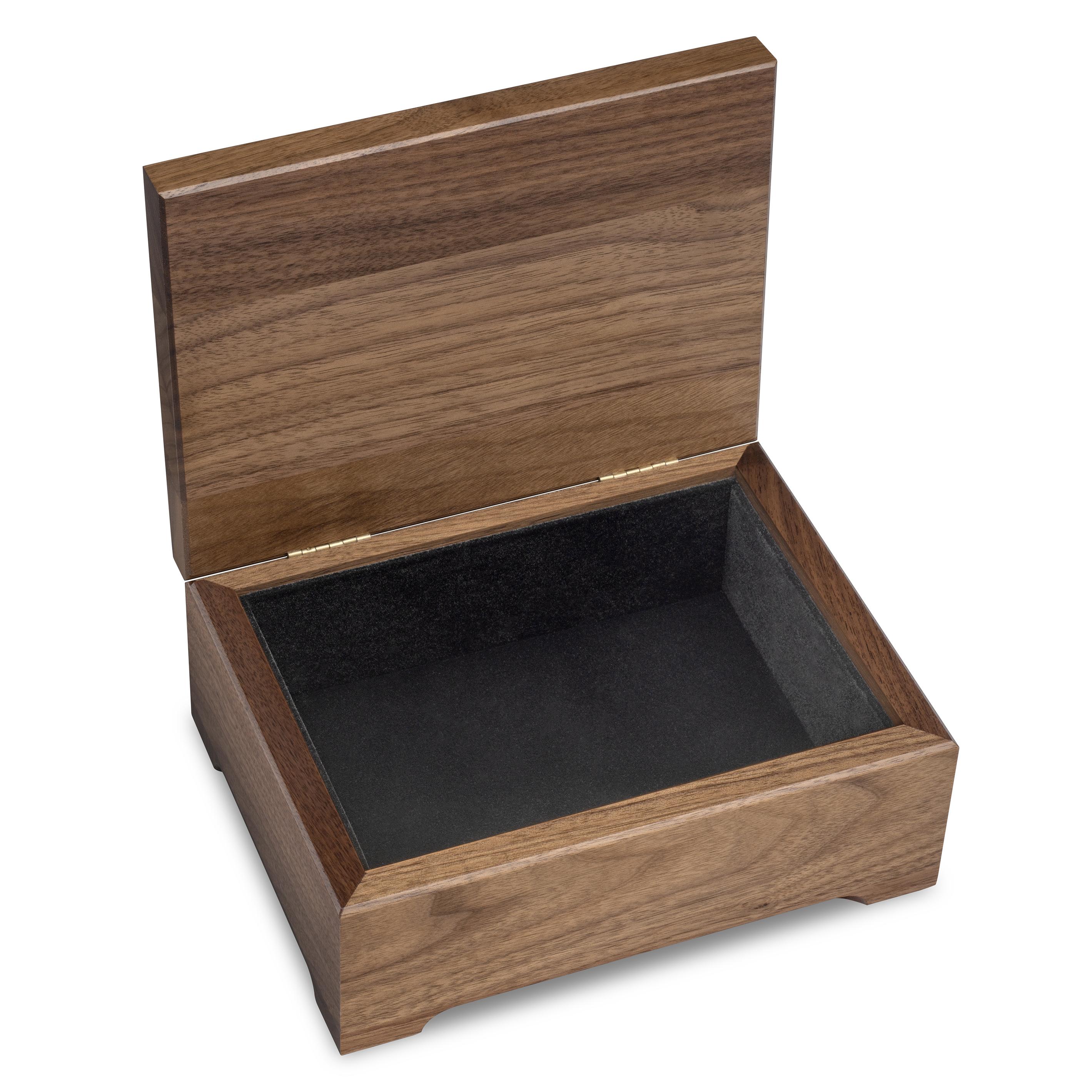 Clemson Solid Walnut Desk Box - Image 2