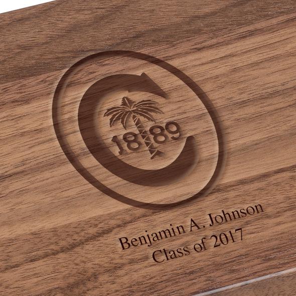 Clemson Solid Walnut Desk Box - Image 3