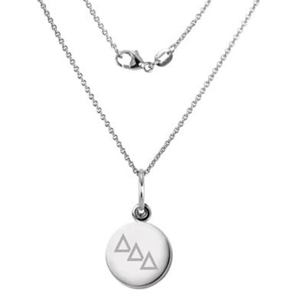 Delta Delta Delta Sterling Silver Necklace with Silver Charm