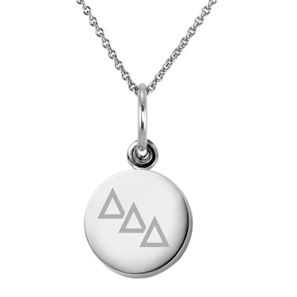 Delta Delta Delta Sterling Silver Necklace with Silver Charm - Image 2
