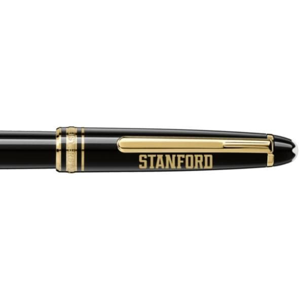 Stanford University Montblanc Meisterstück Classique Rollerball Pen in Gold - Image 2