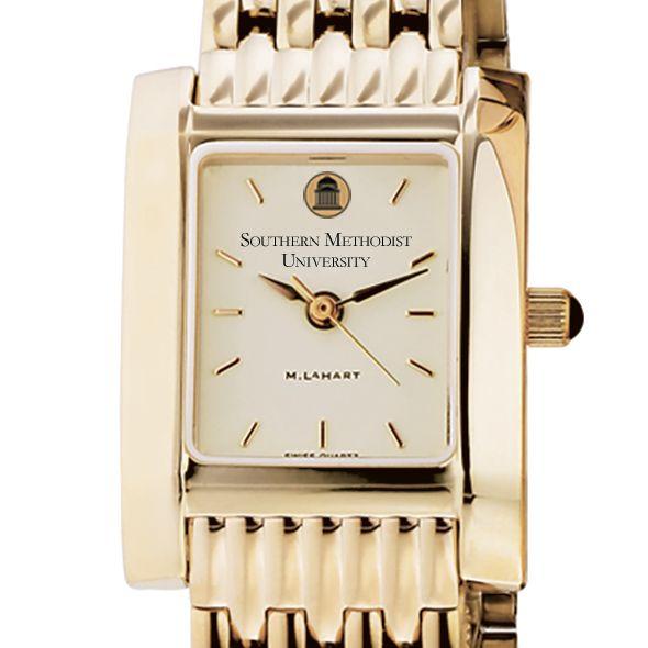 SMU Women's Gold Quad Watch with Bracelet
