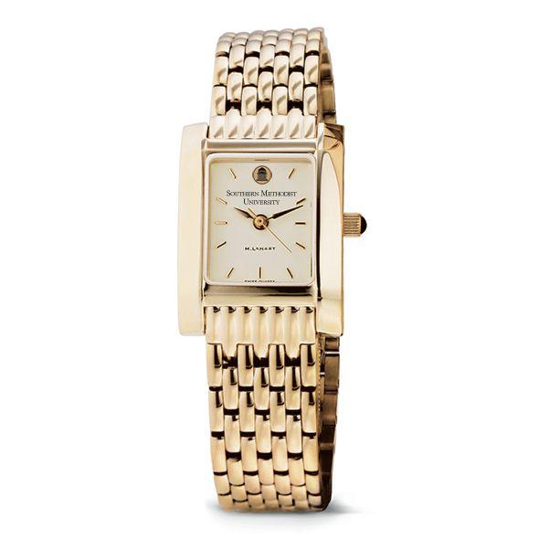 SMU Women's Gold Quad Watch with Bracelet - Image 2