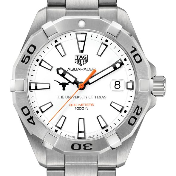 University of Texas Men's TAG Heuer Steel Aquaracer