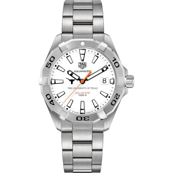 University of Texas Men's TAG Heuer Steel Aquaracer - Image 2