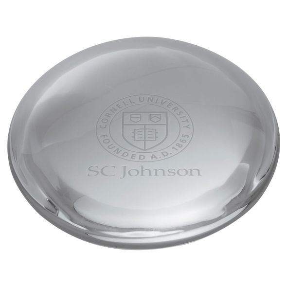 SC Johnson College Glass Dome Paperweight by Simon Pearce - Image 2