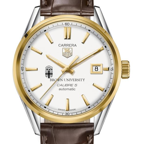 Brown Men's TAG Heuer Two-Tone Carrera with Strap