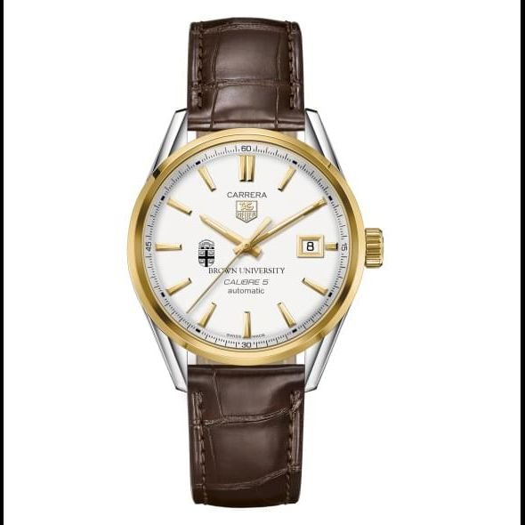 Brown Men's TAG Heuer Two-Tone Carrera with Strap - Image 2