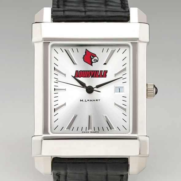 University of Louisville Men's Collegiate Watch with Leather Strap