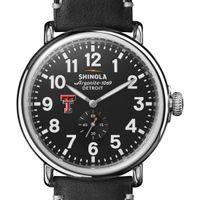 Texas Tech Shinola Watch, The Runwell 47mm Black Dial