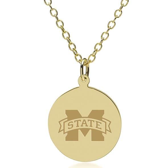 Mississippi State 18K Gold Pendant & Chain