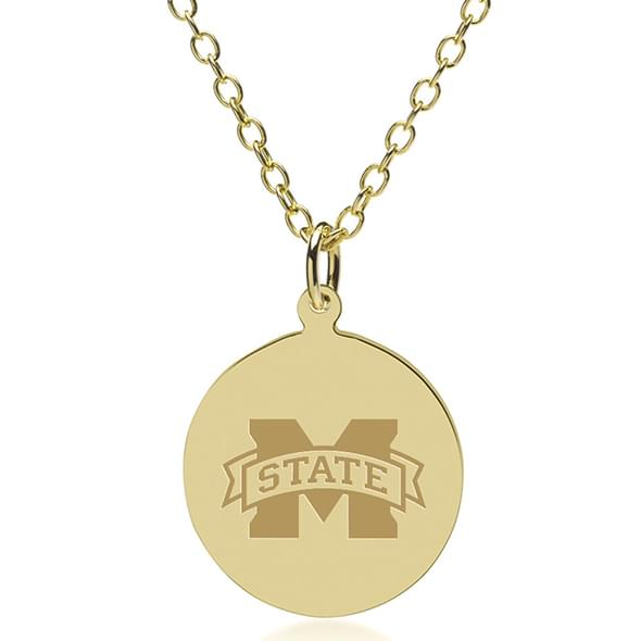 Mississippi State 18K Gold Pendant & Chain - Image 1