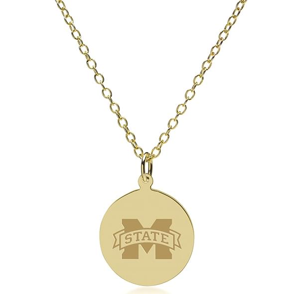 Mississippi State 18K Gold Pendant & Chain - Image 2