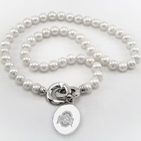 Ohio State Pearl Necklace with Sterling Silver Charm