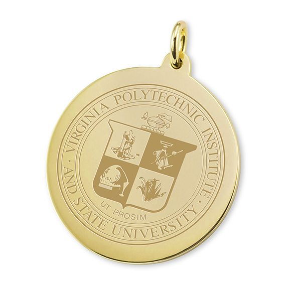 Virginia Tech 18K Gold Charm - Image 1