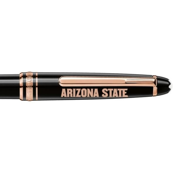 Arizona State Montblanc Meisterstück Classique Ballpoint Pen in Red Gold - Image 2