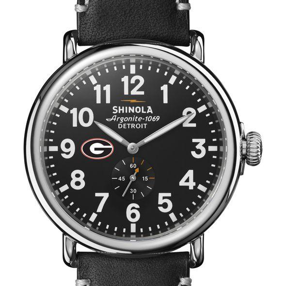 Georgia Shinola Watch, The Runwell 47mm Black Dial - Image 1
