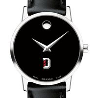 Davidson College Women's Movado Museum with Leather Strap