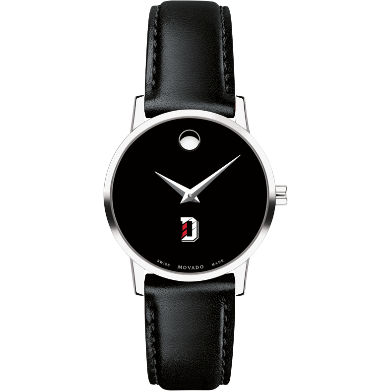 Davidson College Women's Movado Museum with Leather Strap - Image 2