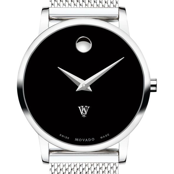 Washington University in St. Louis Women's Movado Museum with Mesh Bracelet - Image 1