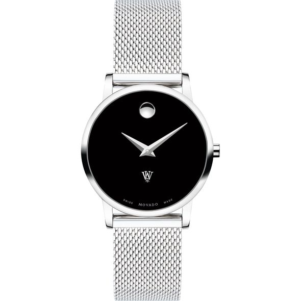 Washington University in St. Louis Women's Movado Museum with Mesh Bracelet - Image 2
