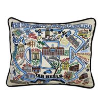 UNC Embroidered Pillow