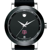 Texas A&M Men's Movado Museum Sport Rubber Strap