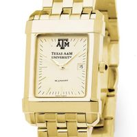 Texas A&M Men's Gold Quad Watch with Bracelet