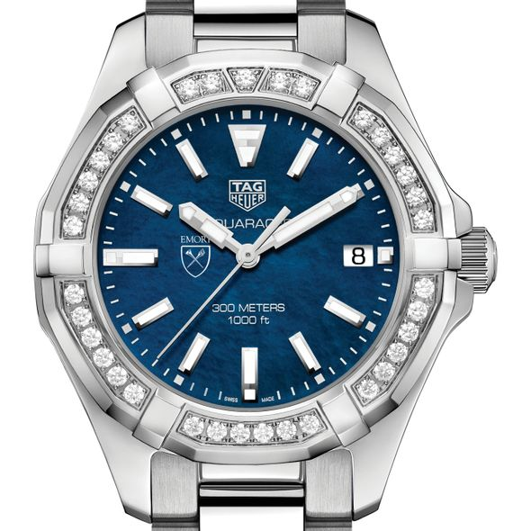 Emory Women's TAG Heuer 35mm Steel Aquaracer with Blue Dial - Image 1